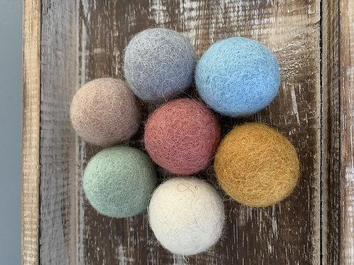 Papoose |  Earth Felt Balls 3.5cm 7pc