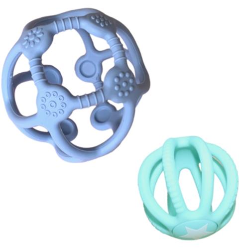 Jellystone | 2 Pack Sensory Ball & Fidget Ball (Soft Blue & Soft Mint)