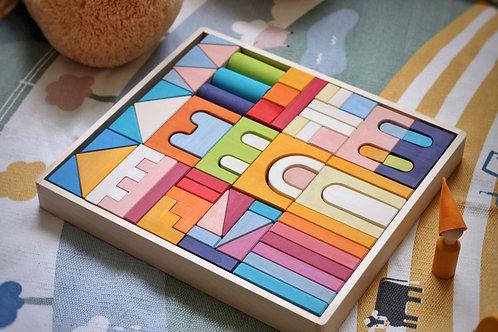 Skandico | Castle Building Block Set - Rainbow