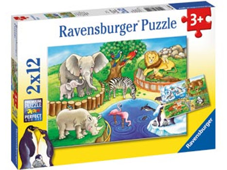 Ravensburger | Animal's In The Zoo Puzzle 12 Piece