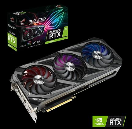 ASUS ROG STRIX RTX 3070-O8G-GAMING 8GB GDDR6X 256-BIT