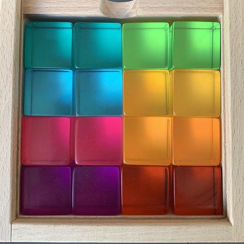 Papoose | Bright Lucite Cubes 16pc