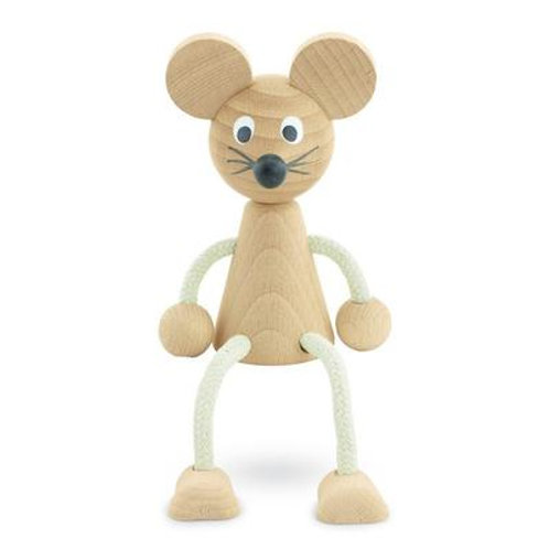 Wooden Sitting Mouse - Bentley