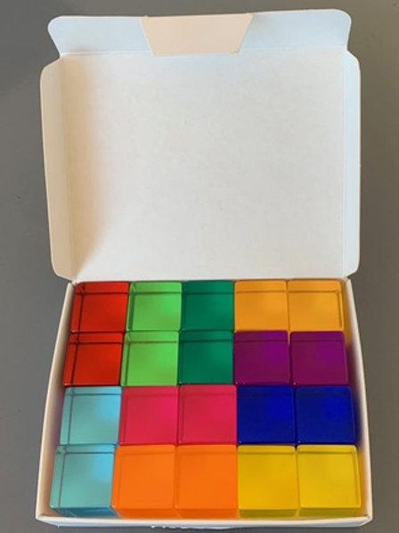 Bauspiel   Lucite Cubes 20pc
