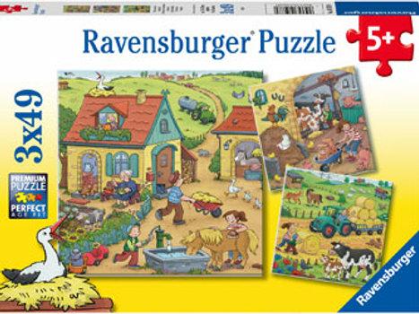 Ravensburger | On The Farm Puzzle 49 Piece