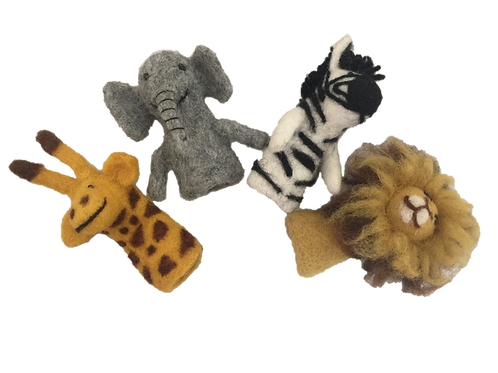 Papoose | African Animal Finger Puppets 4pc