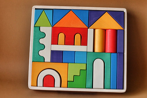 Skandico | House Building Block Set - Rainbow