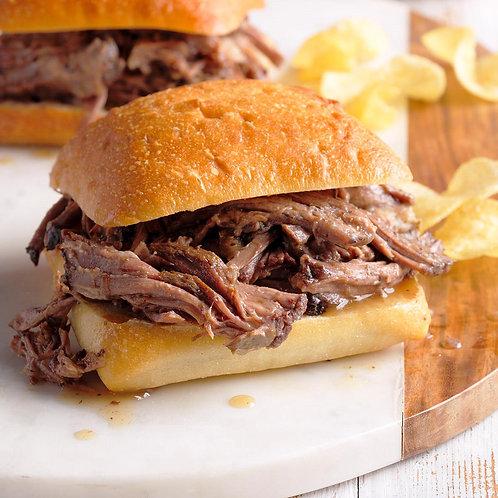 Slow braised beef sandwich