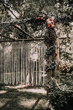 Macrame Arbor Curtain