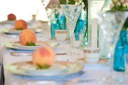 Gorgeous Table Setting in Pavilion