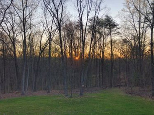 Sunset in mid-Spring