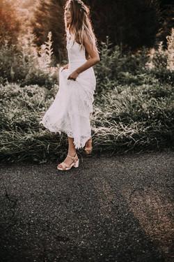 Kaelyn on her wedding day