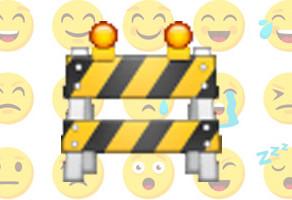 Even geen gebruik van emoticoins in e-mailing