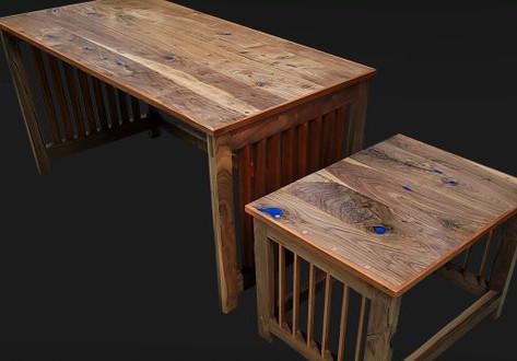 Gaming Desk & Sidetable