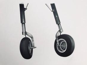 Wheels Graphite Drawing