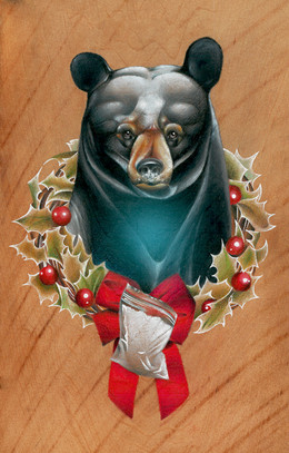 Cocaine Bear Christmas Card