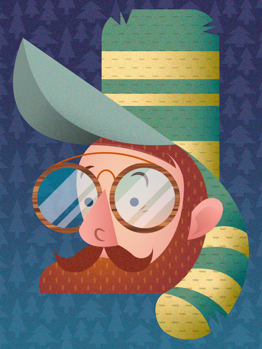 SCAD Illustrator Self Portrait