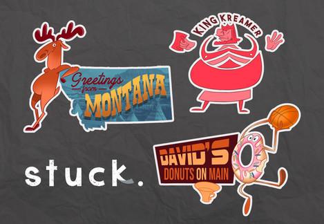 Stuck. Sticker Characters