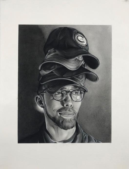 SCAD Charcoal Self Portrait