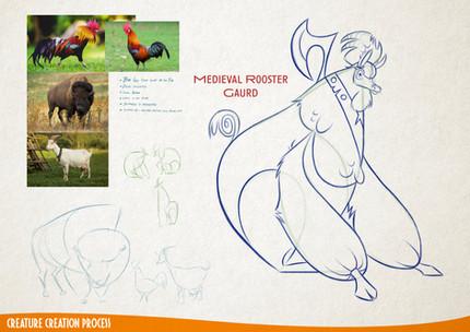 Medieval Rooster Guard Monster Mash