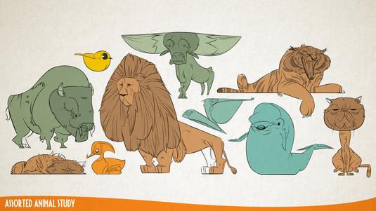 Assorted Animal Character Study
