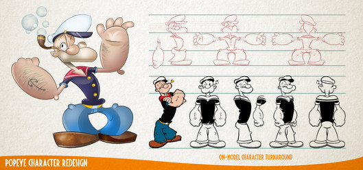 Popeye Character Redesign
