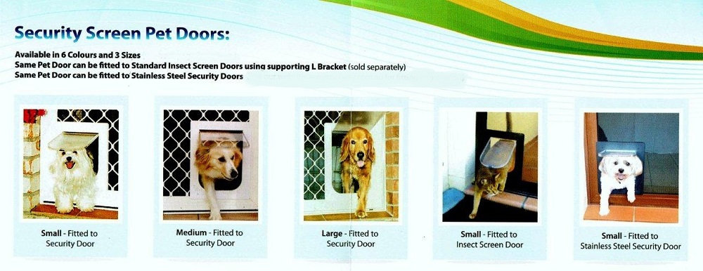 Security door for dogs