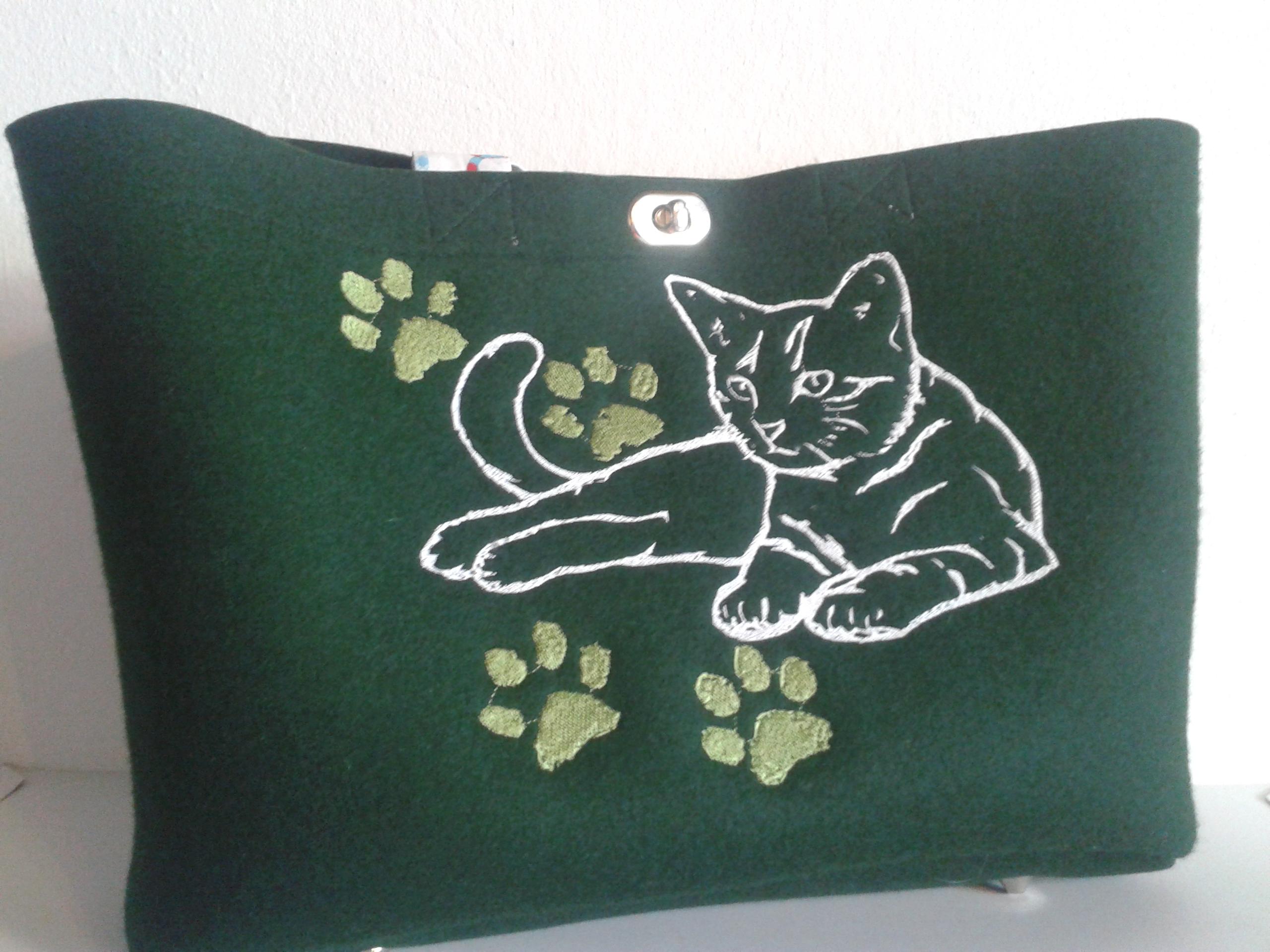 Stickerei Katze