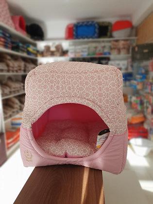 caminha pet iglu dobrável rosa/azul