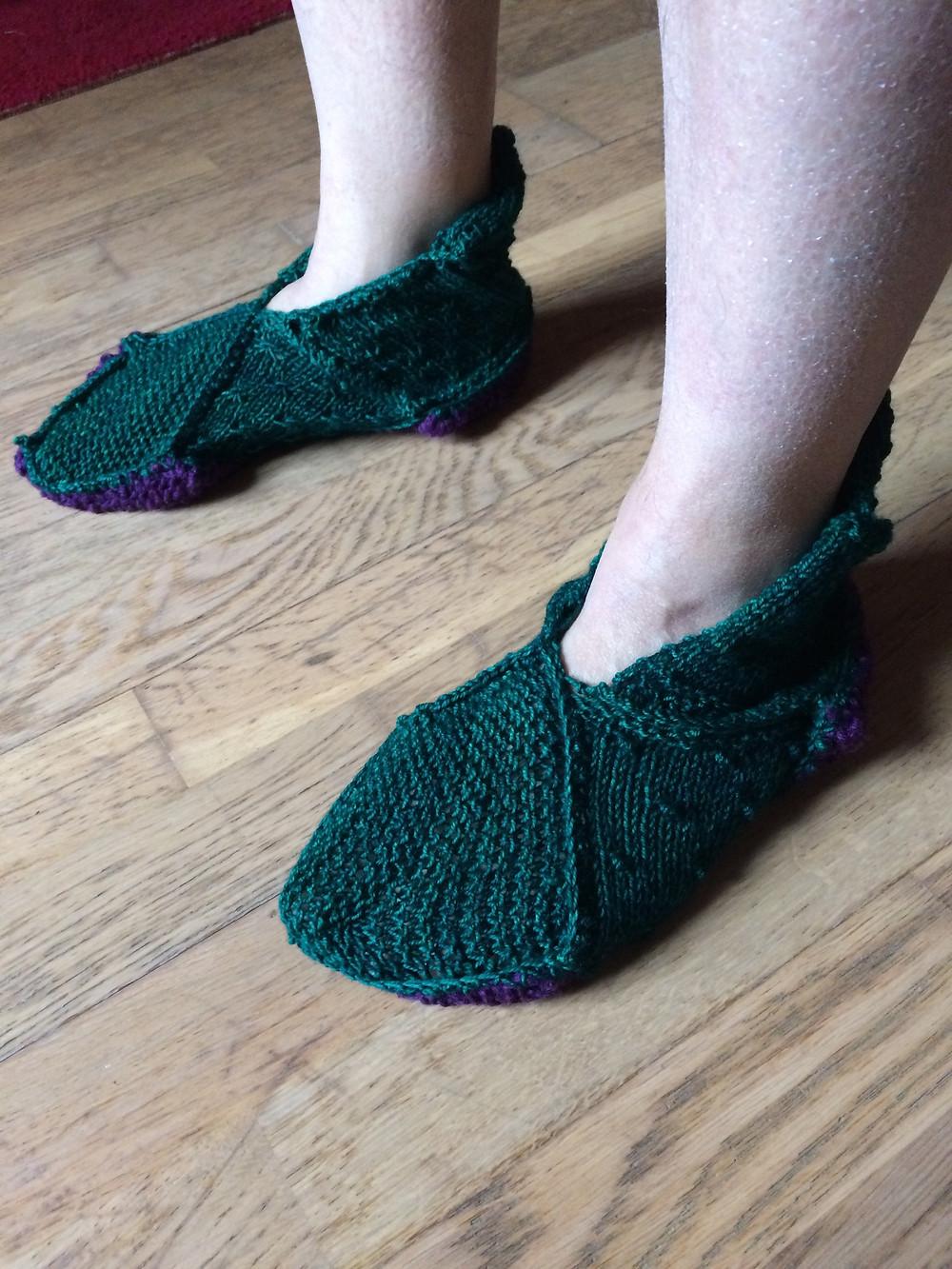 Sampler Slippers for Paul