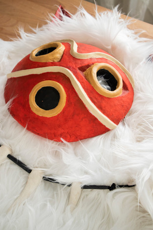 Clay Princess Mononoke Cosplay Mask & Ca