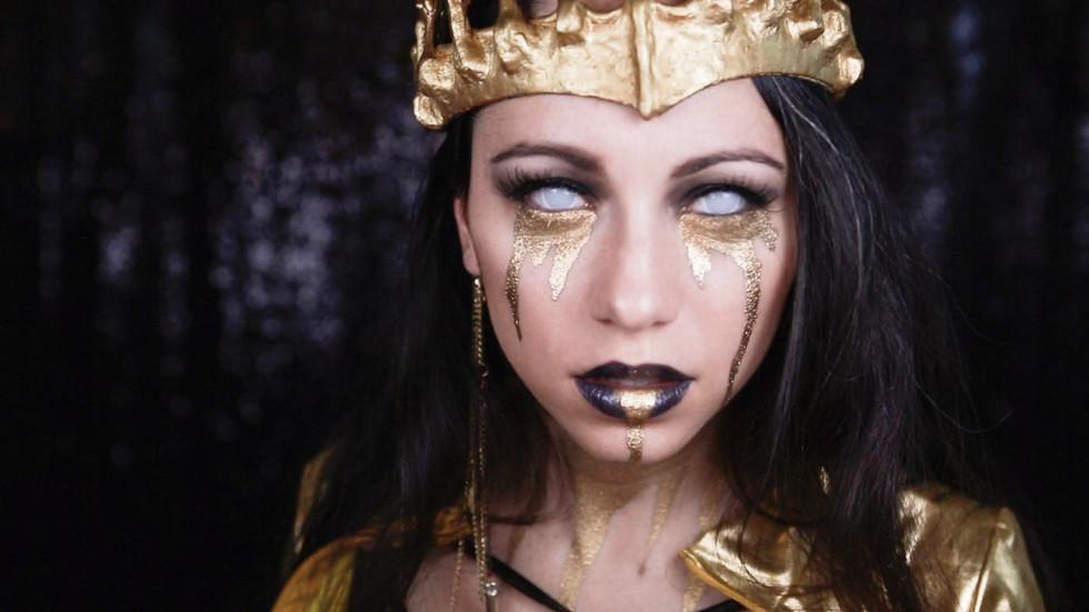 Skulltress Skeleton Queen Halloween Makeup