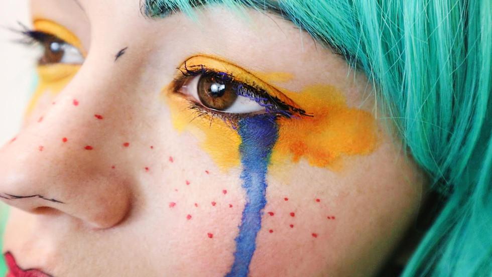 Gris Game Cosplay Makeup Eyes