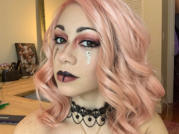 Pink & Gold Tribal Witch Fantasy Makeup