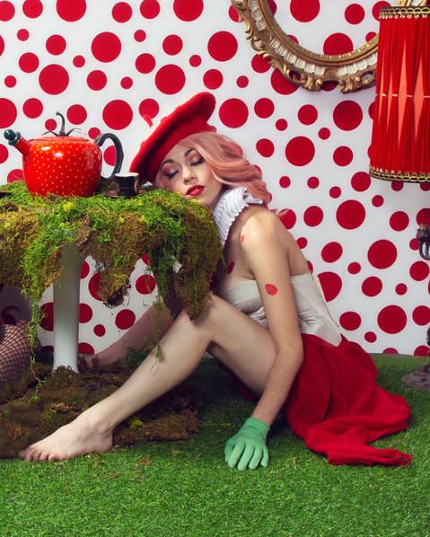 Alice in Wonderland Mushroom Fantasy