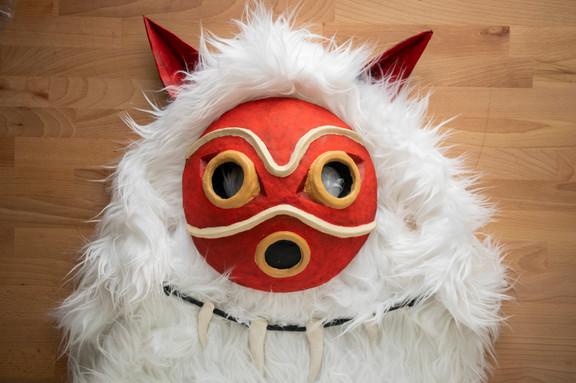 Clay Princess Mononoke Cosplay Mask & Ca
