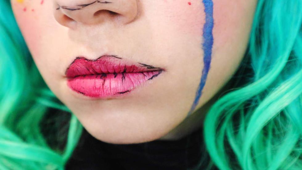 Gris Game Cosplay Makeup Lips