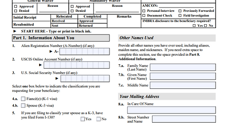 How to File the K1 Visa Petition (Form I-129F and supporting ...