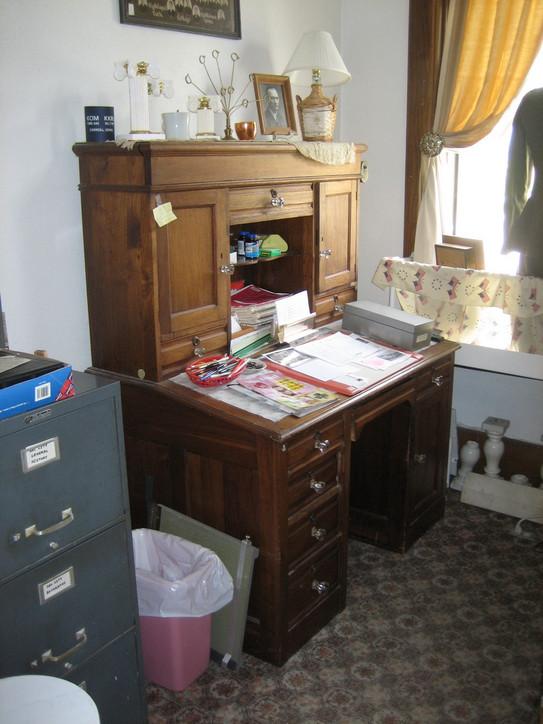 W.B. Wayt's desk, still inside the office where he worked.