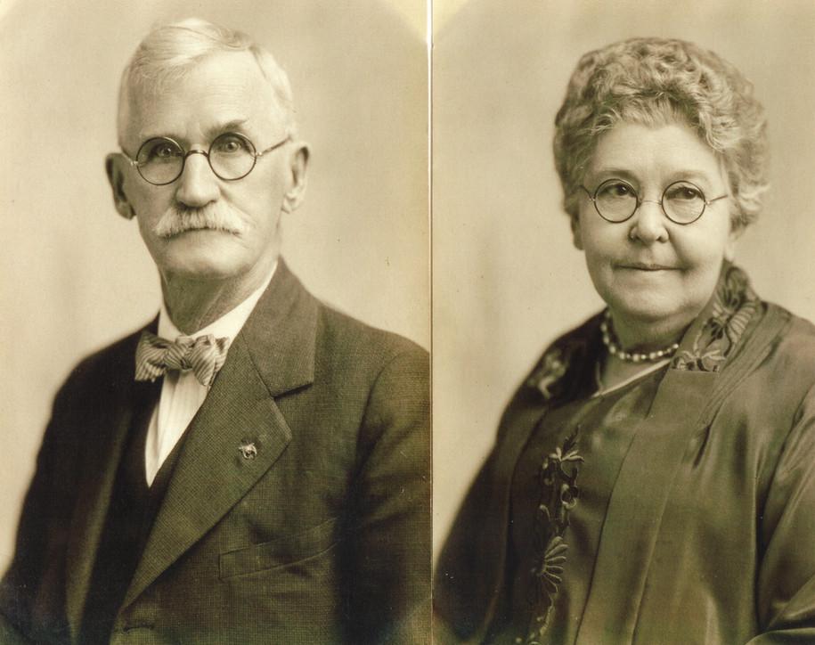 The pioneers:  Wooster Beach and Emmeretta Augusta Marsh Wayt.  (courtesy Wooster Bertram Wayt)