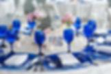 Свадебное оформление в синих тонах