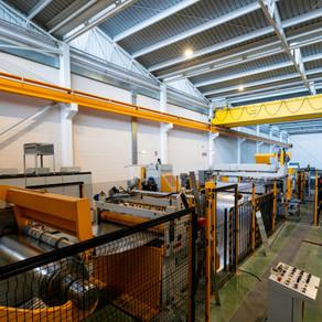Nueva línea de corte de acero en Aiscan