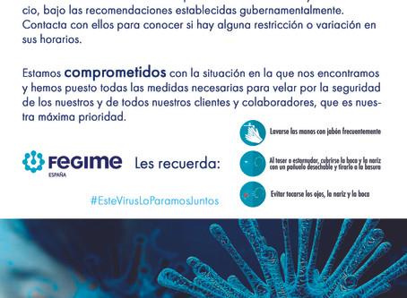 Fegime y el Coronavirus (COVID-19)