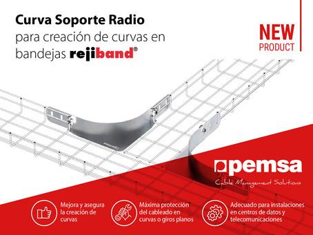Pemsa lanza su Curva Soporte Radio, la mejor solución para instalaciones de cables de datos