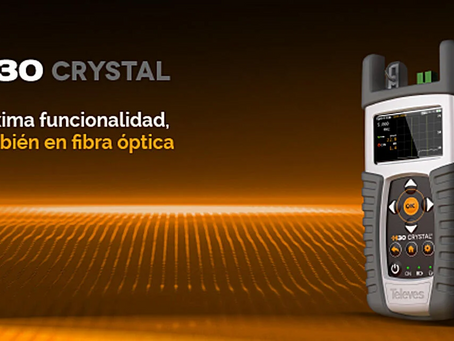 Televés presenta el H30CRYSTAL, su nuevo medidor portátil multiestándar con capacidad FTTx