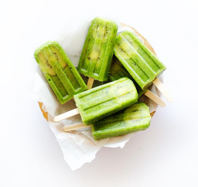 Detox Green Popsicles