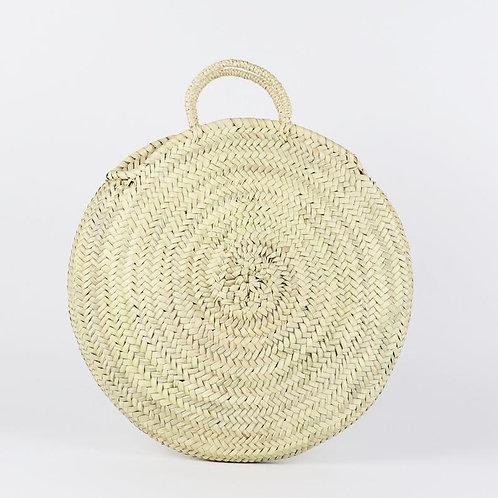 Round Straw Bag - Straw Handles