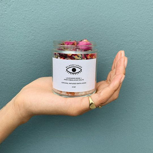 Crystal Infused Lavender Rose + Pink Himalayan Bath Soak