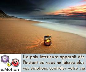 paix intérieure contrôle des émotions
