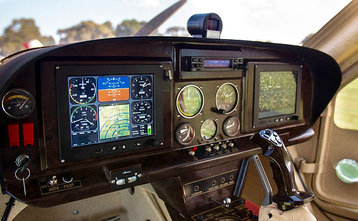 TOPAZ aircraft instrument panel
